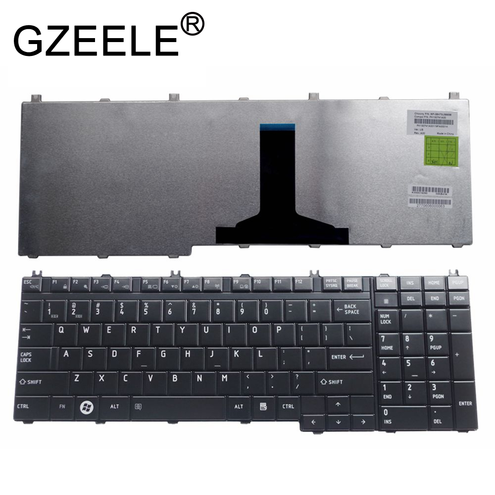 GZEELE US Laptop Keyboard For Toshiba Qosmio F60 F750 F755 G50 G55 X300 X305 X500 X505 US Keyboard