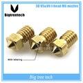 5 Pcs 3D impressora 3D V6 & V5 J-bicos extrusora bocal Da Cabeça de bronze 0.2/0.25/0.3/0.4/0.5/0.6/0.8/1.0mm Para 1.75/3.0mm suprimentos