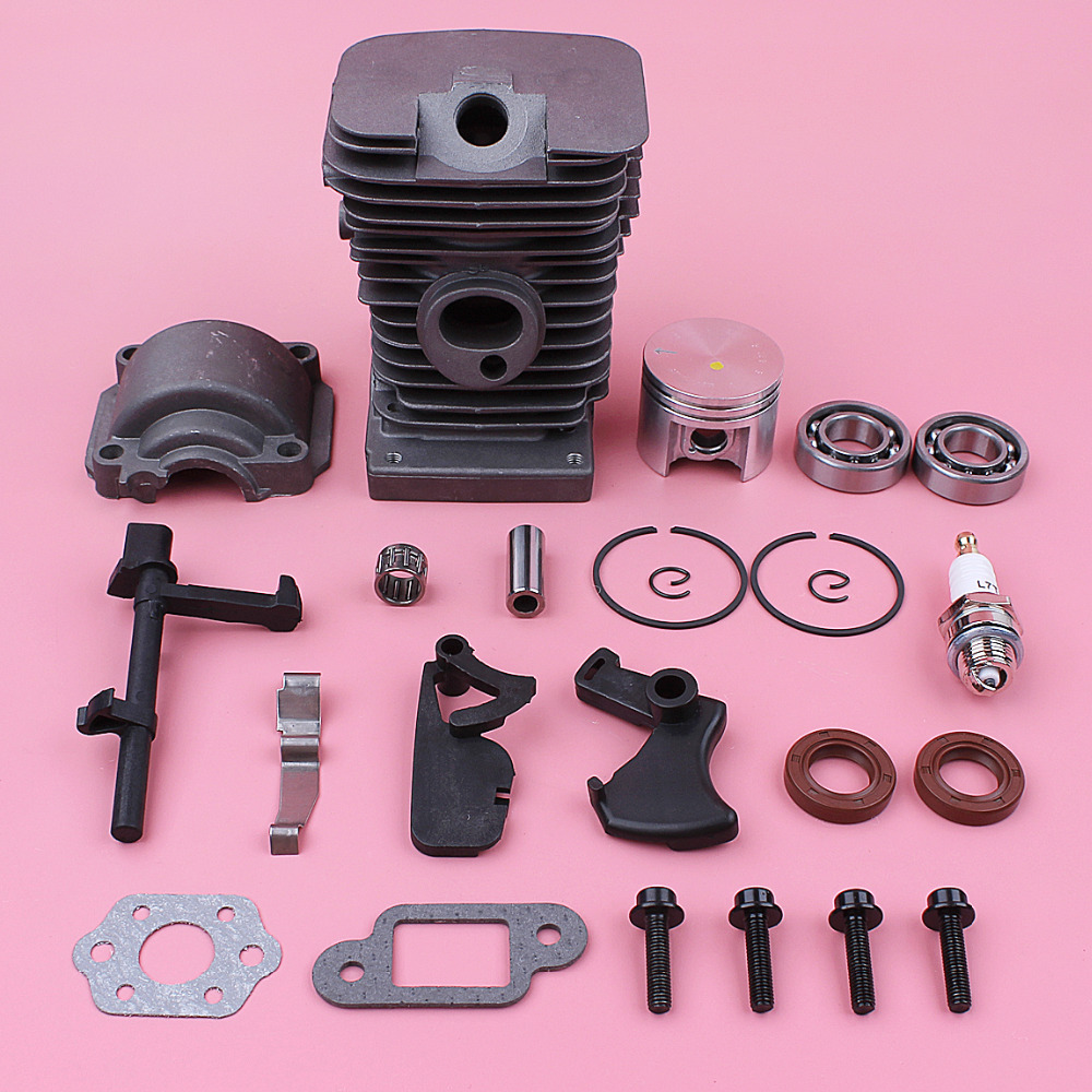 38mm Cylinder Piston Kit For Stihl MS180 018 MS 180 Chainsaw Part Engine Pan Crank Bearing Oil Seal Throttle Trigger Interlock