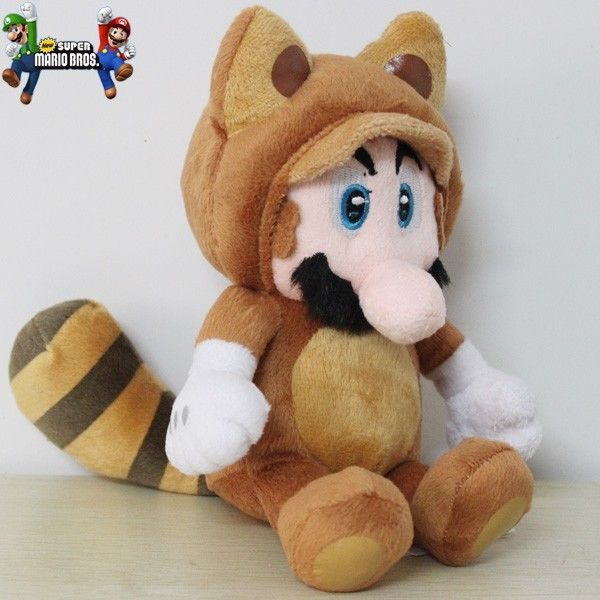 Super Mario 7 18cm Plush Toy Tanooki Racoon Character a Stuffed Animal Doll