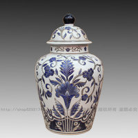 Fashion decoration blue and white ceramic vase home accessories crafts