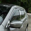 Para Nissan x-trail 2014 2015 ABS Plástico Auto accesaries Ventana Visor Vent Sombras Sun Rain Deflector Guardia toldo refugios
