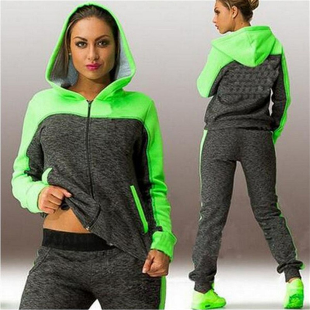 Hooded Suit Set Tracksuits Women Clothes Sportswear Fitness Workout Set High Quality Women Clothing 4XL