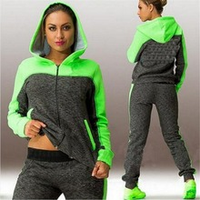 Hooded Suit Set Tracksuits Women Clothes Sportswear Fitness