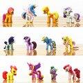 12 unids/set 5 cm Pequeños Caballos De Plástico Pet Shop Figuras de Acción Yegua Unicornio Muñeca Figuras de Anime Figuras Juguetes Para Los Niños niños Niñas