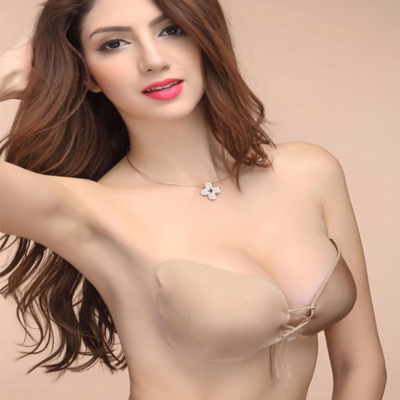 Sexy Self Adhesive Strapless Bra Bandage Stick Gel Silicone Push Up Invisible Seamless Backless Bra 2 styles 2