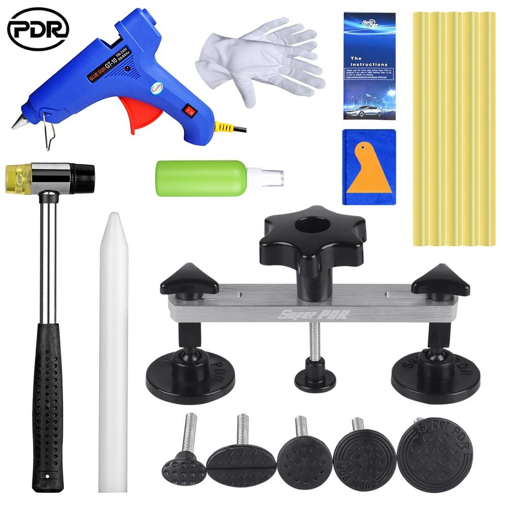 PDR Auto Repair Tool Removing Dents Paintless Denting Bridge Puller With Glue Sticker Car Bodywork Repair For 1-9cm Car Dents