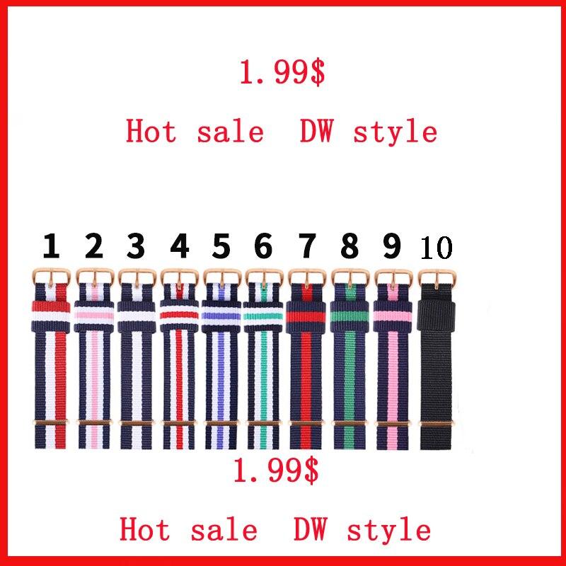 1.99 hot sale dw strap 18MM 20MM watch strap