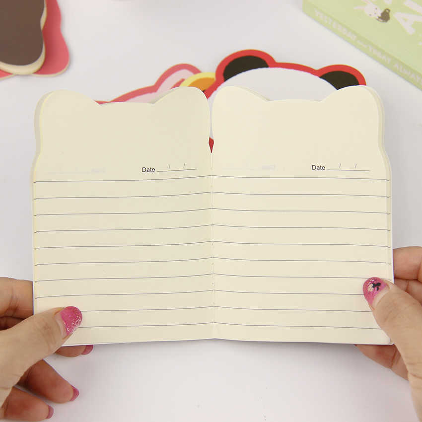 1 pc kawaii cartoon criativo artigos de papelaria material de escritório escola caderno diário panda urso bloco de notas cor aleatória