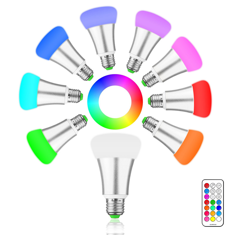 10w E27 Led Bulb Lamp Rgb Stage Light 12 Colors Led Lights For Home Remote Control Brightness Timing Ac 85-265v Rgb + Cool White To Win A High Admiration