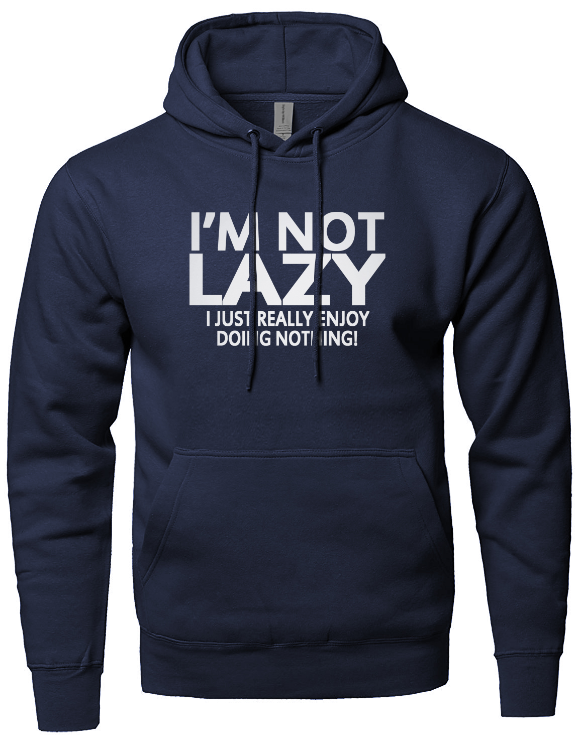 I'M NOT LAZY Letter Printed 2019 Spring Fleece High Quality Hoody Winter Sweatshirt For Men Brand-Clothing Men's Sportswear New