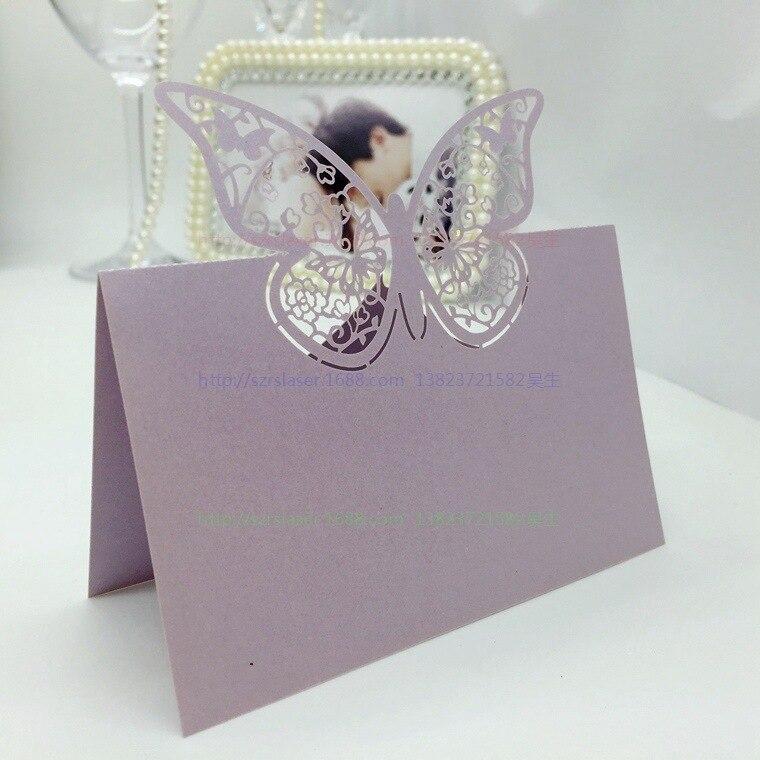 Wedding Supplies 100pcspack Pierced Laser Cut Butterfly Wedding