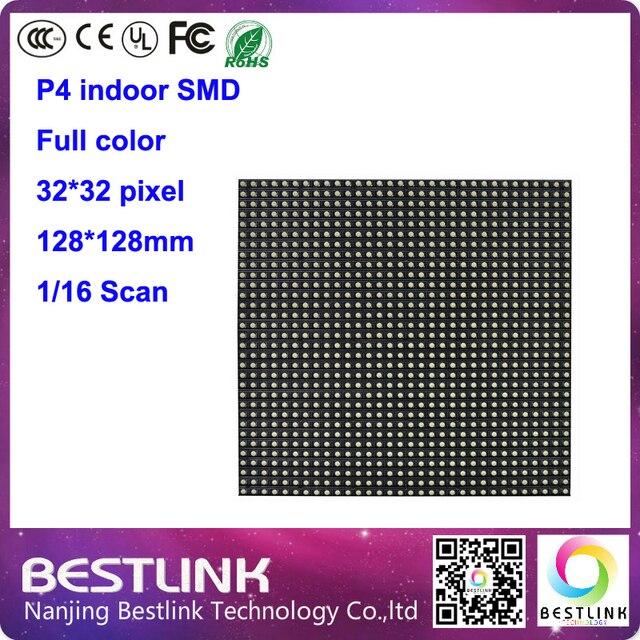 P4 из светодиодов модуль 32 * 32 пикселей 128 * 128 мм 16 s полноцветный из светодиодов модуль для внутреннего из светодиодов электронные из светодиодов экран из светодиодов рекламный щит
