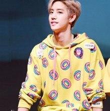 Ilkbahar sonbahar moda donuts baskı hoodies erkekler kadınlar için kpop got7 mark sadece sağ bangtan boys aynı kazak