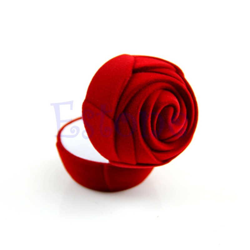 Hot 2020 Affollamento Contenitore di Monili Rosso, Rosa, Romantico Anello di Cerimonia Nuziale Dell'orecchino Della Collana Del Pendente Dei Monili di Visualizzazione del Contenitore di Regalo Dei Monili di Imballaggio
