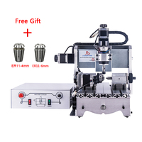 mini cnc router 4 Axis 3020 800W Water cooled spindle 3axis Ball screw wood milling machine