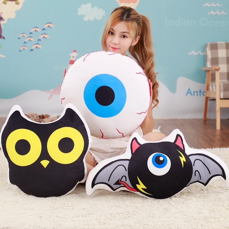 Cartoon Fun Modeling Plush Stuffed Pillow, Office Sofa Cushions, Creative Eyeball, Owl, One-eyed Monster Home Decoration