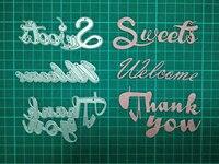 Letter Metal Die Cutting Scrapbooking Embossing Dies Cut Stencils Decorative Cards DIY Album Card Paper Card