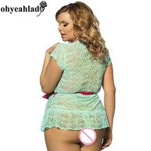 Babydoll lingerie sexy plus size transparent