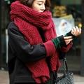 Bandana 2016 de Corea Del Invierno Mujeres de Los Hombres Amantes de Tejer Lana Engrosamiento Mantener Caliente Bufanda Echarpe Pashmina Cachecol Bufandas de Las Señoras