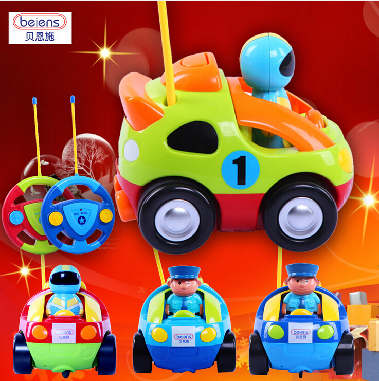 Hot Cartoon Beiens RC Car Kid Remote Control Toys Police Racing With Model Fun Cute Christmas Gift Toy For Children