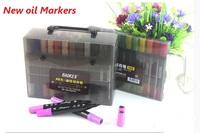 120 colors/set Water Color Pen Dual Head Brush Marker Colored Pen Stationery Markers clothing building Animation Design