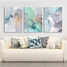 diamond painting Triptych Abstract Green Stone Pattern Nordic style diy full round drill embroidery Geometric Home Decor