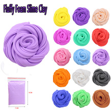 16 Color 3D Fluffy Foam Clay Slime DIY Soft Cotton Ball Kit Scented Stress Relief Release Plasticine Kids Toys