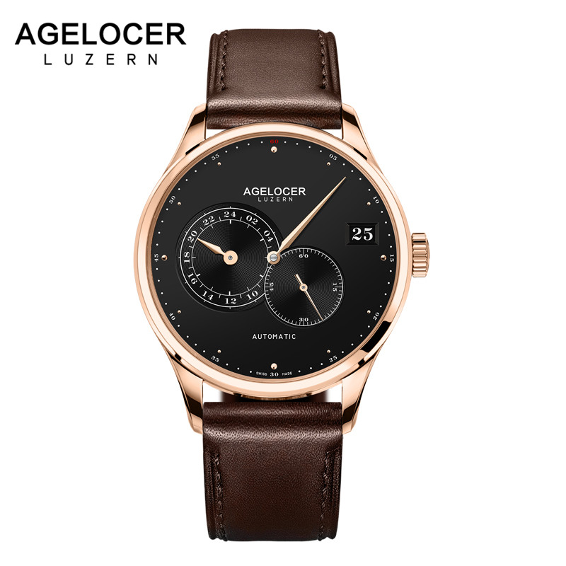 AGELOCER Automatic Mechanical Men Watches Brand Luxury New 2019 Male Clock Wrist Watch Man Watch Montre Homme Relogio Masculino