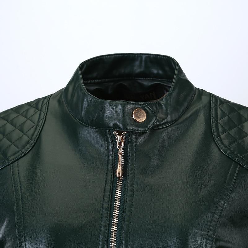 Flymokoii Կաշվե բաճկոն գարուն Plus Plus Չափ 4XL - Կանացի հագուստ - Լուսանկար 6