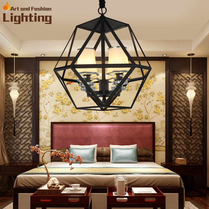Chain mount iron polygon chandelier metal ring fixed light shade chain mount iron polygon chandelier metal ring fixed light shade white linen fabric lampshade in chandeliers from lights lighting on aliexpress mozeypictures Gallery