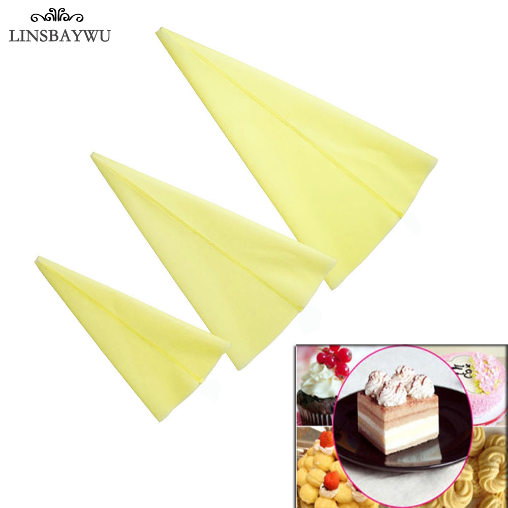 Small//Large Silicone Reusable Icing Piping Cream Pastry Bag Cake Decorating Tool