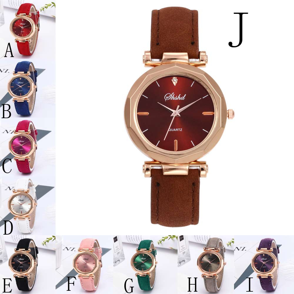 Fashion Simple Watch Women Fashion Women Leather Casual Watch Luxury Analog Quartz Crystal Wristwatch Women Ladies Casual
