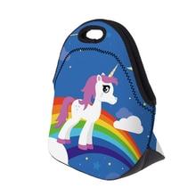 Rainbow Unicorn Printed Lunch Bag