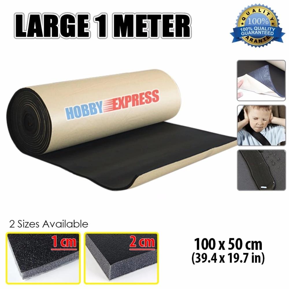 arrowzoom tapis de mousse acoustique en caoutchouc 1 metre auto adhesif insonorisant isolant thermique pour voiture kk1136