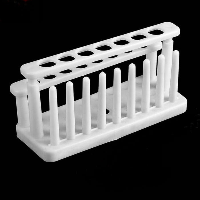 1pcs lab plastic assembled test tube rack double row 15 holes with column for DIA: 15mm or 20mm test tubes 60 piece tube 16x150mm clear plastic test tube set with caps and rack