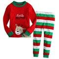 2017 Pijamas para Niñas Pijamas Set de Navidad Niñas Bebés Niños Ropa de Niños Ropa de la Historieta Establece Niños Princesa Pijamas
