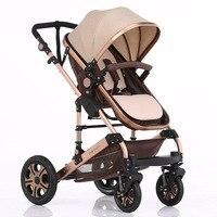 Золото алюминиевый спальные корзины детской коляски Детские автомобиль ребенок Весна осень осенние и зимние сезона вообще