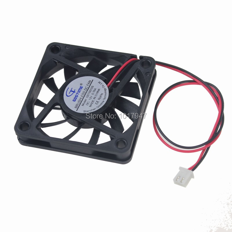 500Pieces LOT Gdstime 6010S DC 12V 2P 60mm x 10mm Exhaust Industrial Machine Cooling Fan