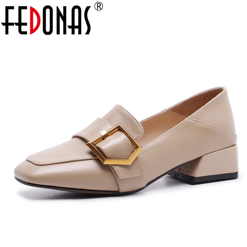FEDONAS New Women Pumps Fashion Square Toe High Heels Spring Autumn Wedding Shoes Woman Buckles Sexy Comfort Pumps siketu 2017 free shipping spring and autumn women shoes sex high heels shoes wedding shoes sweet lovely pumps g126