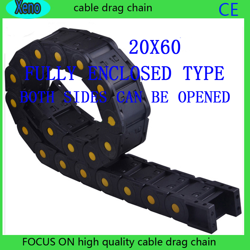 20x60 10Meters Fully Enclosed Type Reinforced Nylon Wire Carrier For CNC Route Machine20x60 10Meters Fully Enclosed Type Reinforced Nylon Wire Carrier For CNC Route Machine
