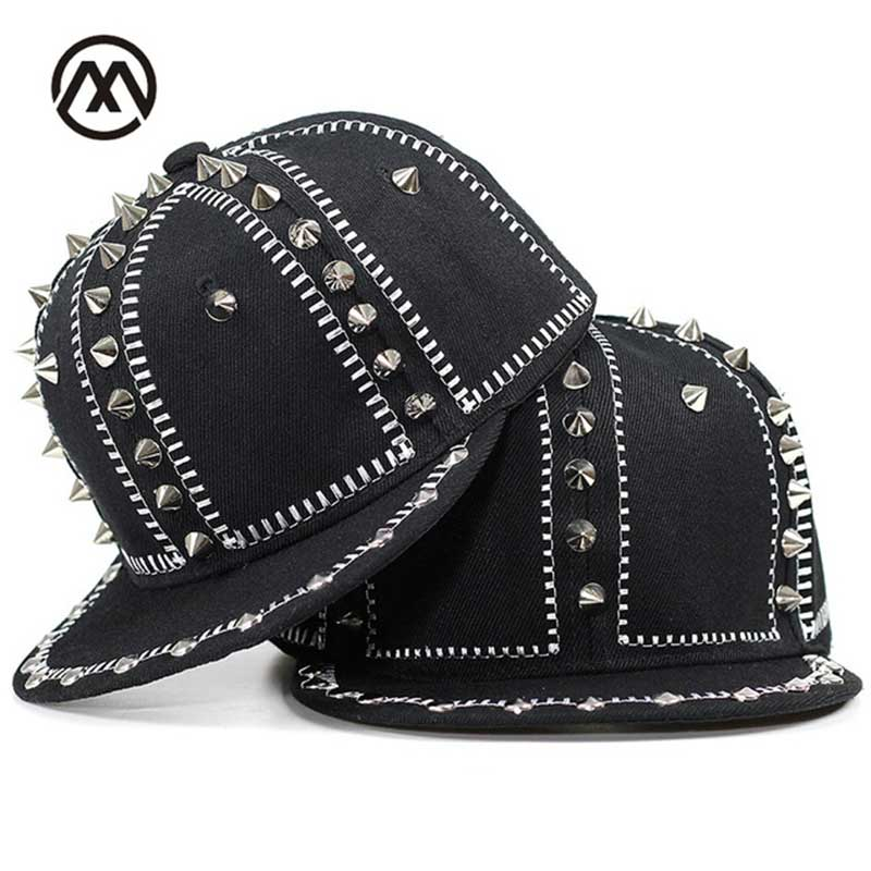 New cool Hip Hop Caps replacement rivet hat boys and girls hats unisex outdoor sun shade fashion street style retro wholesale