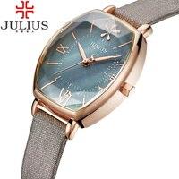 Unique Roman Numerals Ladies Watch Retro Leather Strap Casual Quartz Watch Fashion Wristwatches Clock Female Relogio