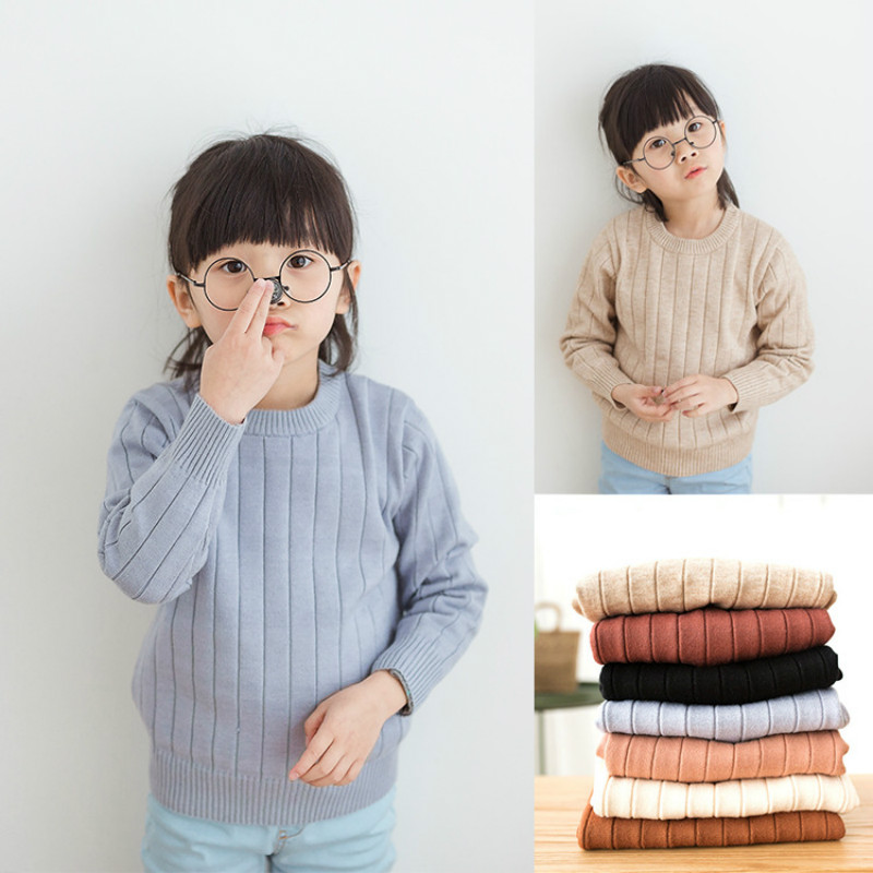 Brands Baby Girls Sweaters Winter 2018 Girl Long Sleeve Knitted Pullover Clothes Kids Autumn Sweater for Girls Boys Velvet Coat sundae angel baby girl sweater kids boy turtleneck sweaters solid winter autumn pullover long sleeve baby girl sweater clothes