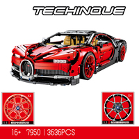 38036 Technic series The Chiron sports car Model Building Blocks set Toys for children classic car styling Compatible 42083