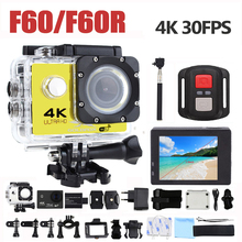 F60 F60R 4K Wifi Action Camera 16MP 170D Wide Angle Sport DV 30M Go Waterproof Pro Extreme Sports Video Bike Helmet Cam Mini DVR gopro hero 4 style f60 wifi 4k action camera with remote controller helmet diving mini cam go waterproof pro sport camera