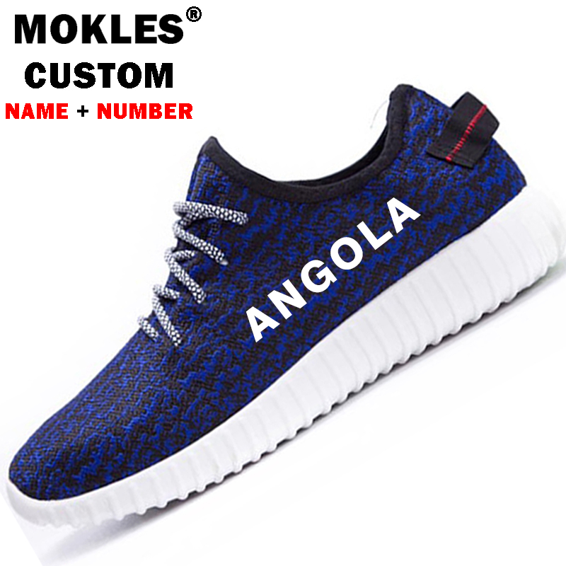ANGOLA shoes logo custom name number spring summer ao hat ago flag portuguese Angolan nation country lace up casual shoes цены