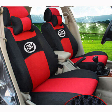 grey/red/beige/blue Embroidery logo Car Seat Cover Front&Rear complete 5 Seat for FIAT Ottimo C-Medium Bravo Palio freeshiping grey red beige blue embroidery logo car seat cover front