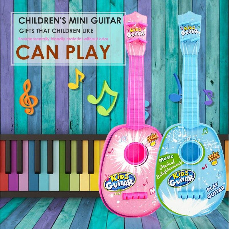 Гавайская гитара Мини инструмент укулеле игрушка пластик 4 струны Гавайские гитары укулеле детские музыкальные раннее образование