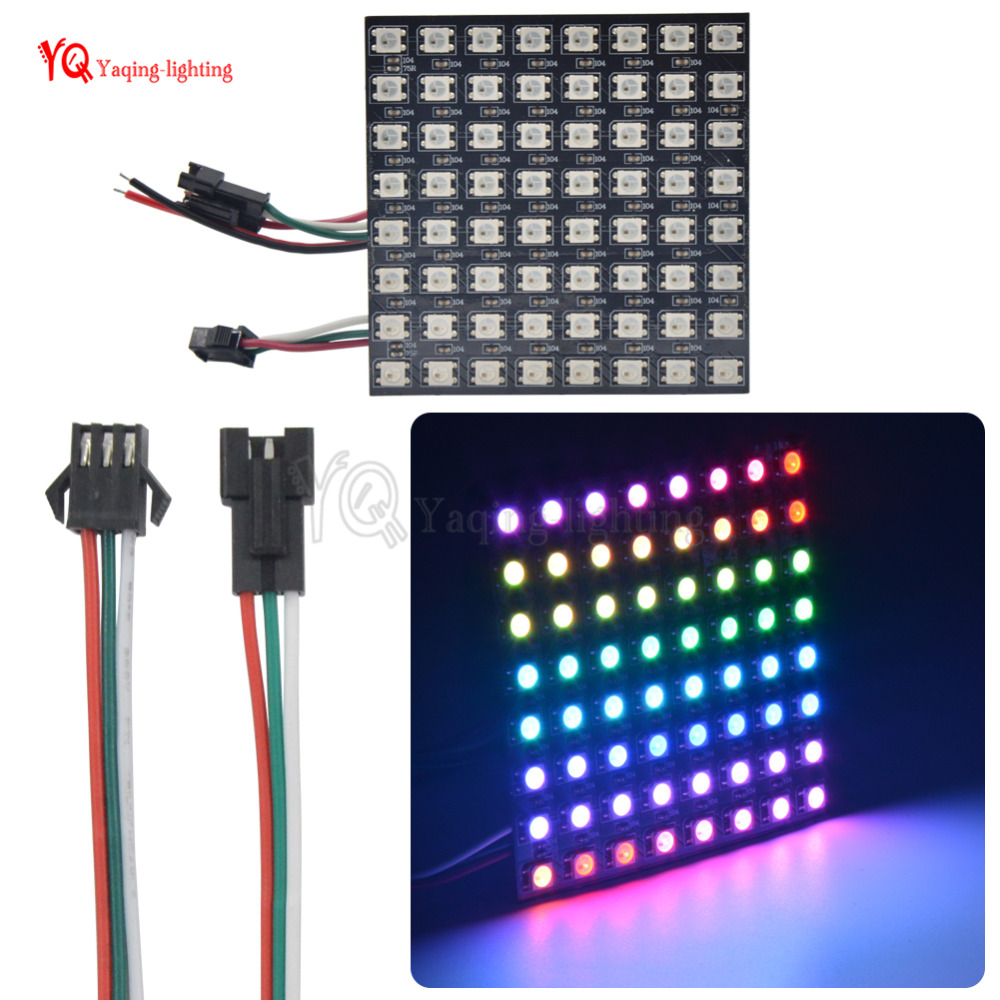 O 8 * 32 16 * 16 8 * 8 pixels WS2812B écran flexible programmé - Éclairage LED - Photo 5